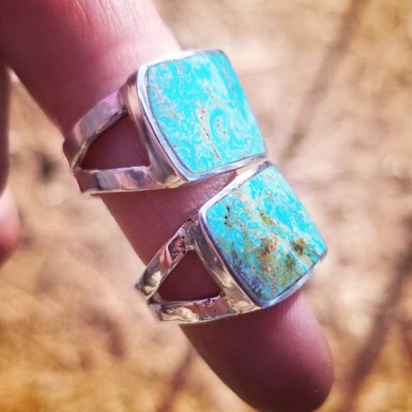 Cripple Creek, Colorado Turquoise and Sterling Silver Ring